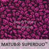 Cristal Checo - Superduo - 2,5x5mm - Fuchsia Intense (10 gr.)