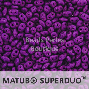 Cristal Checo - Superduo - 2,5x5mm - Purple Intense (10 gr.)