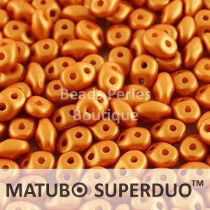 Cristal Checo - Superduo - 2,5x5mm - Marigold Satin (10 gr.)