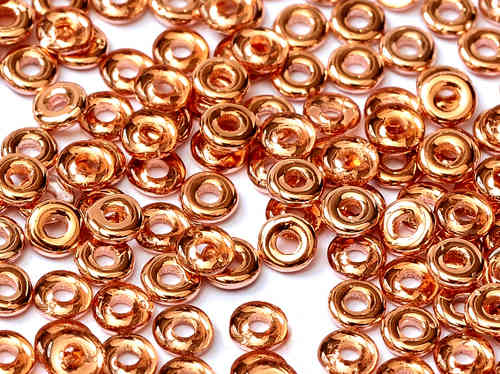 Cristal Checo - O Bead - 2x4mm - Apollo Gold (5 gr.)