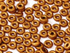 Cristal Checo - O Bead - 2x4mm - Goldenrod Satin (5 gr.)