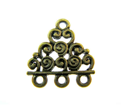 Fornitura - Reductor - 17x18mm - Bronce Antiguo (6 Uds.)