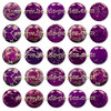 Puffy - Jaspe Emperador - 12mm - Radiant Orchid (2 Uds.)