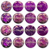 Puffy - Jaspe Emperador - 16mm - Radiant Orchid (2 Uds.)