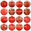 Puffy - Jaspe Emperador - 16mm - Red Coral (2 Uds.)