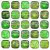 Puffy - Jaspe Emperador - 14x14mm - Perfect Mojito (2 Uds.)