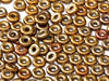 Cristal Checo - O Bead - 2x4mm - Gold Iris Satin (5 gr.)