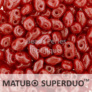 Cristal Checo - Superduo - 2,5x5mm - Metallic Red (10 gr.)