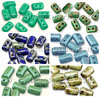 Cristal Checo - Rulla - 3x5mm - Mix Green & Blue 05 (60 gr.)