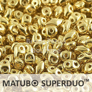 Cristal Checo - Superduo - 2,5x5mm - Full Dorado (10 gr.)