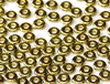 Cristal Checo - O Bead - 2x4mm - Full Dorado (5 gr.)