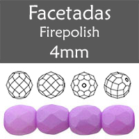 Cristal Checo - Facetada - 4mm - Silk Misty Mauve (100 Uds.)