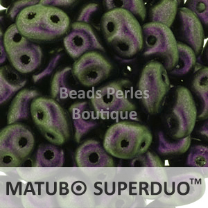 Cristal Checo - Superduo - 2,5x5mm - Polychrome Purple to Emerald (10 gr.)