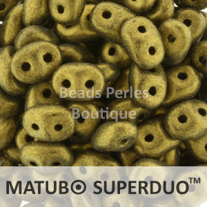 Cristal Checo - Superduo - 2,5x5mm - Metallic Suede Gold (10 gr.)