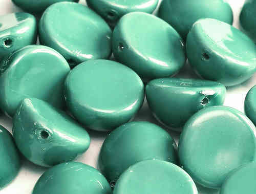 Cristal Checo - DOME BEADS - 14X8mm - Turquoise (5 uds.)