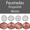 Cristal Checo - Facetada - 4mm - Halo Madder Rose (100 Uds.)