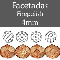 Cristal Checo - Facetada - 4mm - Halo Sandalwood (100 Uds.)