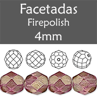 Cristal Checo - Facetada - 4mm - Halo Tyrian (100 Uds.)