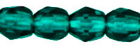 Cristal Checo - Facetada - 3mm - Dark Emerald (100 Uds.)