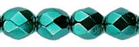 Cristal Checo - Facetada - 4mm - Metallic Oxidized Turquoise (50 Uds.)