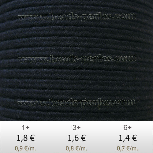 Textil - Soutache DENIM-JEANS - 3mm - Night Blue (2 metros)