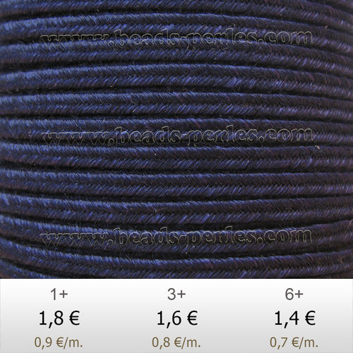 Textil - Soutache DENIM-JEANS - 3mm - One Wash (2 metros)