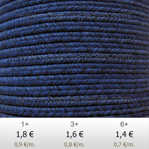 Textil - Soutache DENIM-JEANS - 3mm - Surf Shack (2 metros)