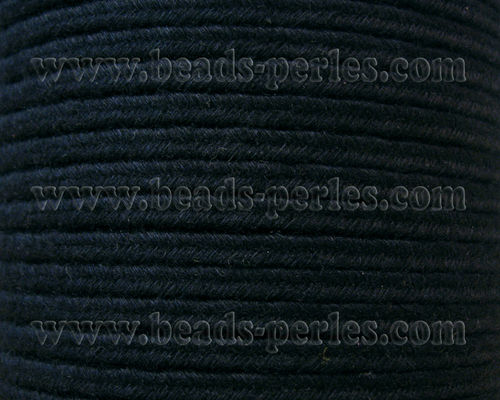 Textil - Soutache DENIM-JEANS - 3mm - Night Blue (50 metros)