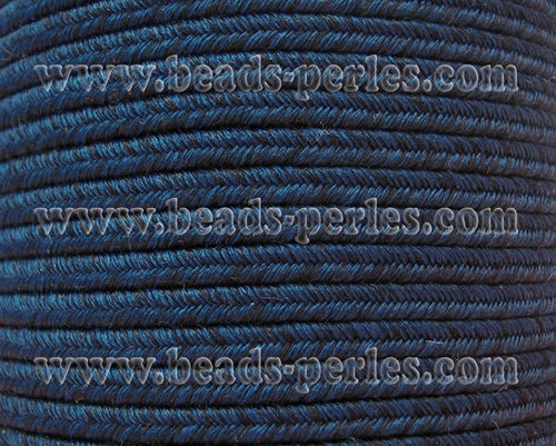 Textil - Soutache DENIM-JEANS - 3mm - Dyed Foam (50 metros)