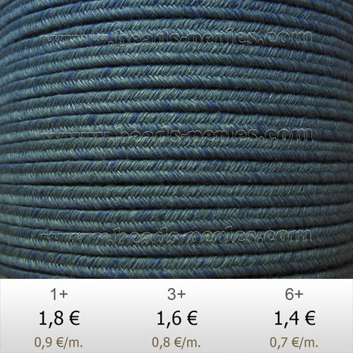 Textil - Soutache DENIM-JEANS - 3mm - Moment Magnitude (2 metros)