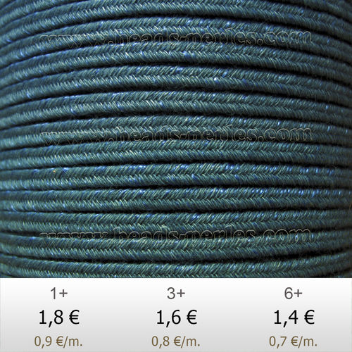 Textil - Soutache DENIM-JEANS - 3mm - Leary (2 metros)