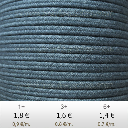 Textil - Soutache DENIM-JEANS - 3mm - Stonewash (2 metros)