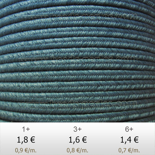 Textil - Soutache DENIM-JEANS - 3mm - Cali Cool (2 metros)