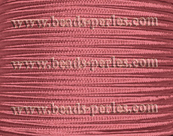 Textil - Soutache-Poliéster - 3mm - Dusty Mauve (50 metros)