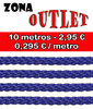 Textil - Cordón Poliéster 3mm - Royal Blue - Outlet (10 metros)