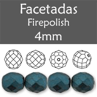 Cristal Checo - Facetada - 4mm - Pastel Dark Teal (100 Uds.)