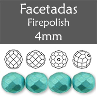 Cristal Checo - Facetada - 4mm - Pastel Aqua (100 Uds.)