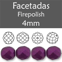 Cristal Checo - Facetada - 4mm - Pastel Purple (100 Uds.)