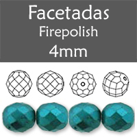 Cristal Checo - Facetada - 4mm - Pastel Blue Turquoise (100 Uds.)