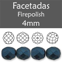 Cristal Checo - Facetada - 4mm - Pastel Navy Blue (100 Uds.)