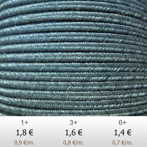 Textil - Soutache DENIM-JEANS - 3mm - Laurel Haze (2 metros)