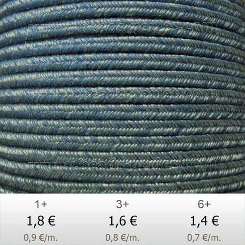 Textil - Soutache DENIM-JEANS - 3mm - The Jc (2 metros)