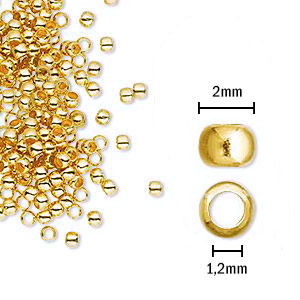 Fornitura - Chafa - 2mm - Color Oro (200 Uds.)