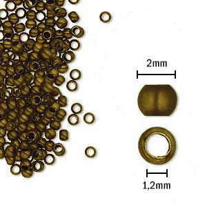Fornitura - Chafa - 2mm - Bronce Antiguo (200 Uds.)