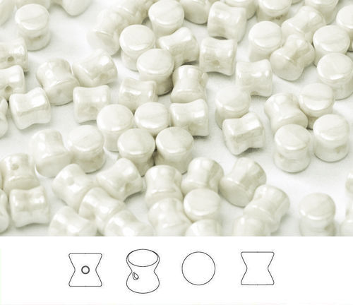 Cristal Checo - Pellet - 4x6mm - Pearl White (50 Uds.)