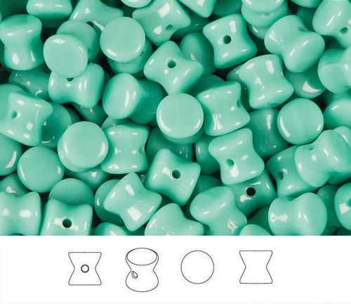 Cristal Checo - Pellet - 4x6mm - Opaque Turquoise (50 Uds.)