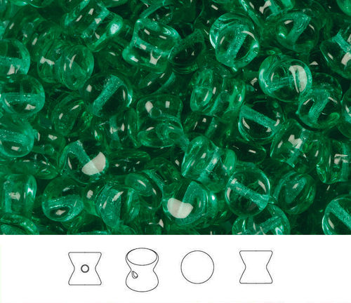 Cristal Checo - Pellet - 4x6mm - Emerald (50 Uds.)
