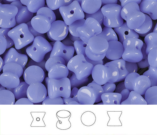 Cristal Checo - Pellet - 4x6mm - Opaque Periwinkle (50 Uds.)