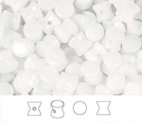 Cristal Checo - Pellet - 4x6mm - Chalk White (50 Uds.)