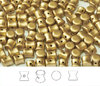 Cristal Checo - Pellet - 4x6mm - Gold Satin (50 Uds.)